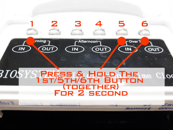 How To Reset Biosystem Punch Card Machine Time Recorder