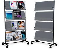 Newspaper Rack 1. Deluxe Magazine Rack Newspaper 1 L