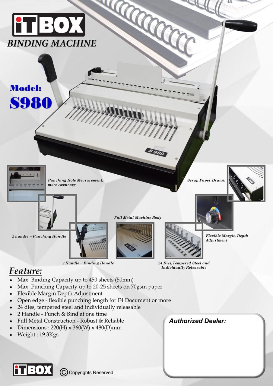 Itbox Comb Binder S980 Equest Store